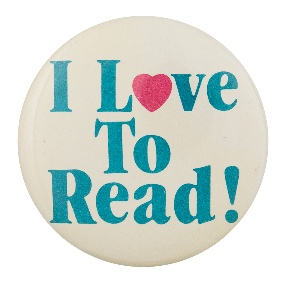 I Love To Read I Heart Button Museum