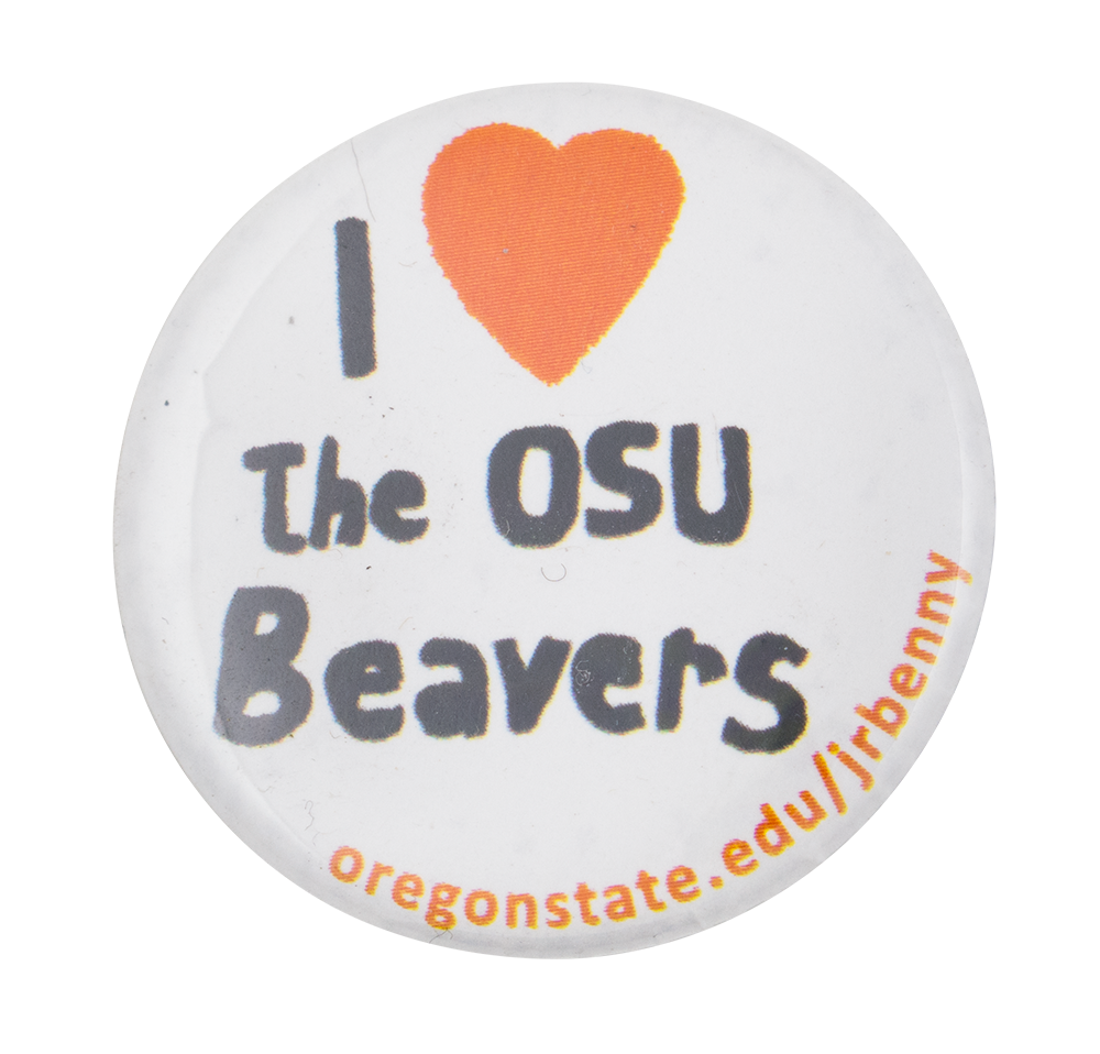I Heart The Osu Beavers I ♥ Buttons Button Museum