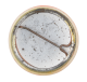 Circles On Peach Background button back Art Button Museum