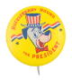 Huckleberry Hound for President Stars and Stripes Entertainment Button Museum