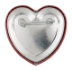 Red Heart button back Social Lubricators Button Museum