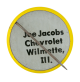 Joe Jacobs Chevrolet Smiley button back Smileys Button Museum