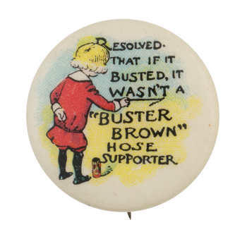 Buster Brown Hose Supporter Advertising Button Museum