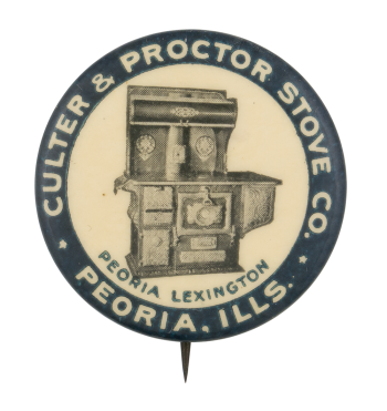 Culter and Proctor Stove Company Advertising Button Museum