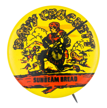 Davy Crockett Sunbeam Bread Advertising Button Museum