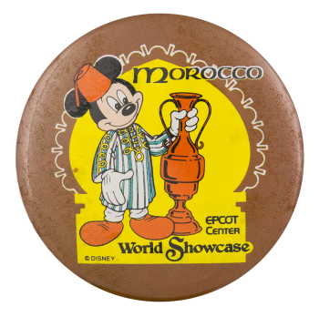 Disney World Showcase Morocco Entertainment Button Museum