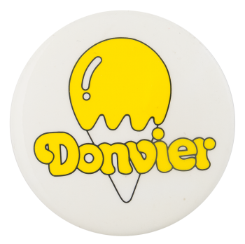Donvier Ice Cream Maker Advertising Button Museum