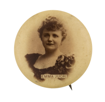 Emma Juch Advertising Button Museum