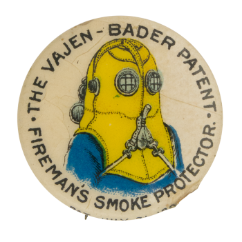 Fireman's Smoke Protectors Advertising Button Museum