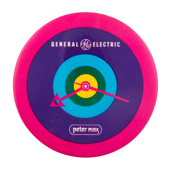 General Electric Peter Max Advertising Button Museum