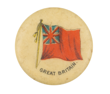 Great Britain Flag Advertising Button Museum