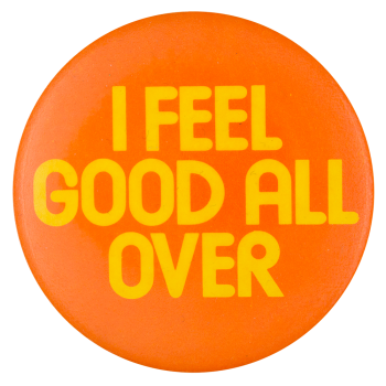 I Feel Good All Over Jamaica Air Advertising Button Museum