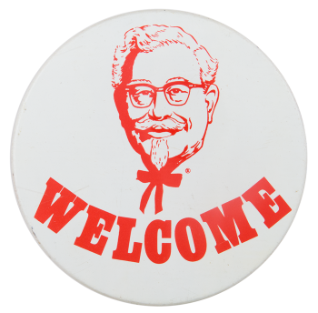 Kentucky Fried Chicken Welcome Advertising Button Museum