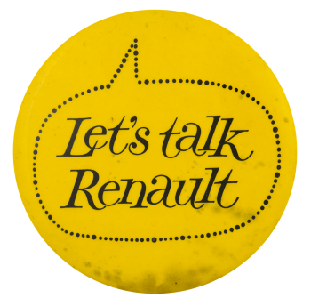 Let's talk Renault Advertising Button Museum
