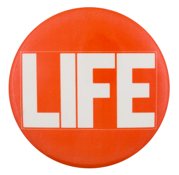 Life Magazine Advertising Button Museum