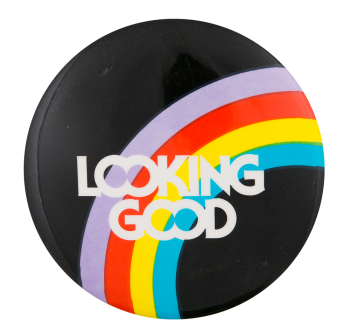 Looking Good Volvo Advertising Button Museum