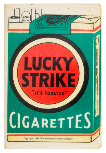 Lucky Strike Cigarettes Advertising Button Museum