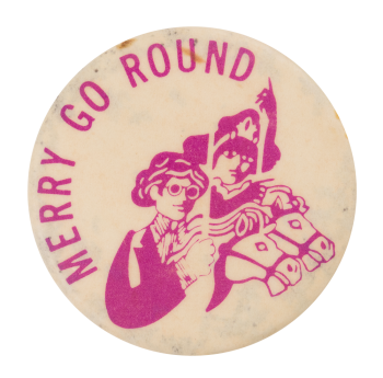 Merry Go Round Advertising Button Museum