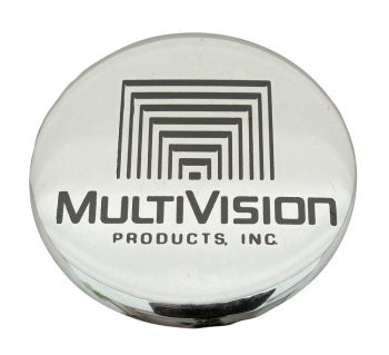 Multivision Products Advertising Button Museum