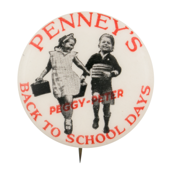 Penney's Back To School Days Advertising Button Museum