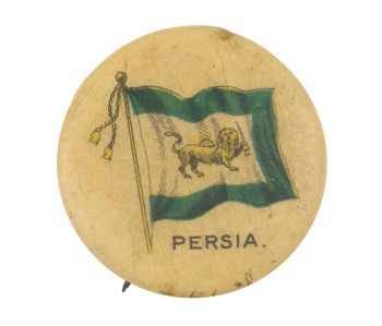 Persia Flag Advertising Button Museum