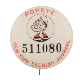 Popeye New York Evening Journal Advertising Button Museum