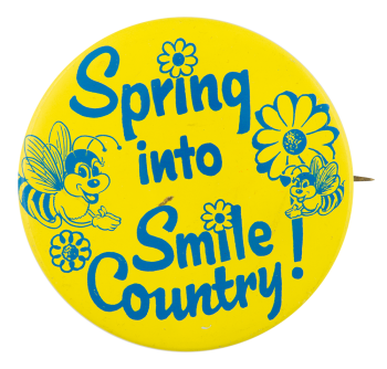 Spring Into Smile Country Jewel-Osco Advertising Button Museum