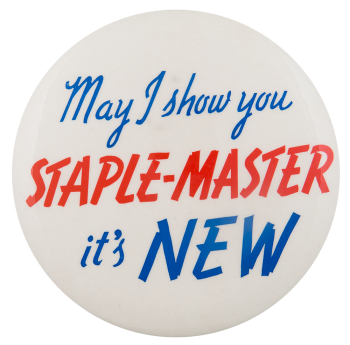 Staple-Master Advertising Button Museum