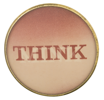 Think Mink Advertising Button Museum
