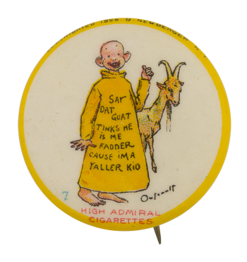 Yellow Kid High Admiral Cigarettes Advertising Button Museum