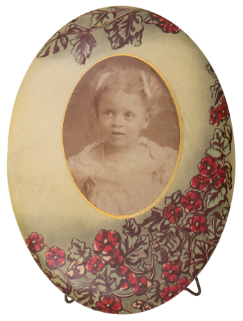 Black and White Portrait of a Girl Art Button Museum