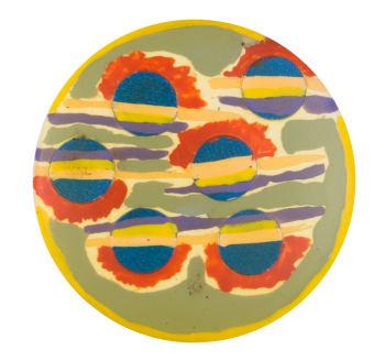 Hand Painted One Art Button Museum