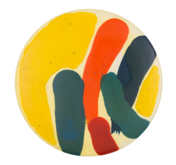 Hand Painted Two Art Button Museum