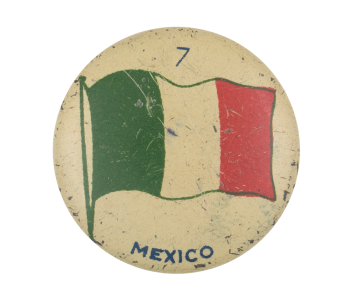 Mexico Flag Art Button Museum