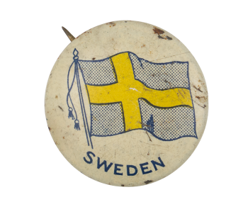 Sweden Flag Art Button Museum