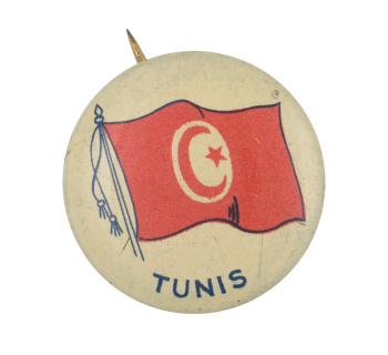 Tunis Flag Art Button Museum