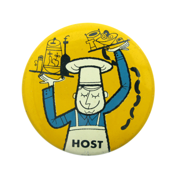 Yellow Host Art Button Museum