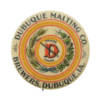 Dubuque Malting Company Beer Button Museum