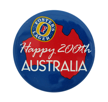 Foster's Lager Australia Advertising Beer Button Museum
