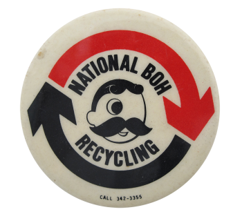 national BOH Recycling Beer Button Museum