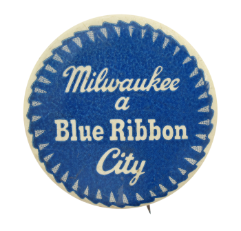 Pabst Blue Ribbon City Beer Button Museum