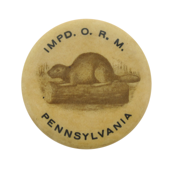 Improved Order of Red Men Beavers Button Museum