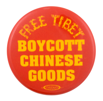 Boycott Chinese Goods Cause Button Museum