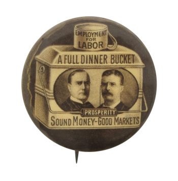 Employment For Labor Brown Cause Political Button Museum