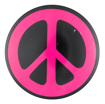 Pink Peace Sign Cause Button Museum
