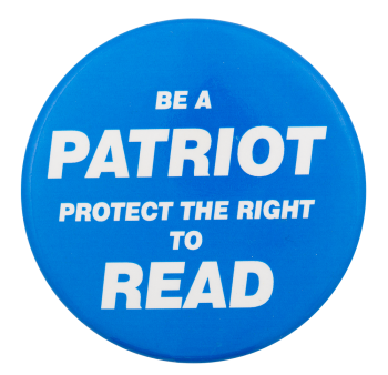 Protect the Right to Read Cause Button Museum