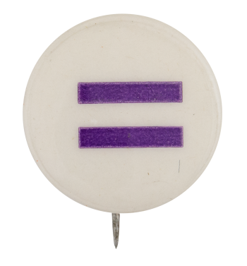 Purple Equals Sign Cause Button Museum