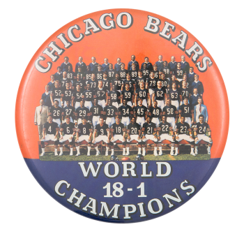 Chicago Bears World Champions Chicago Button Museum