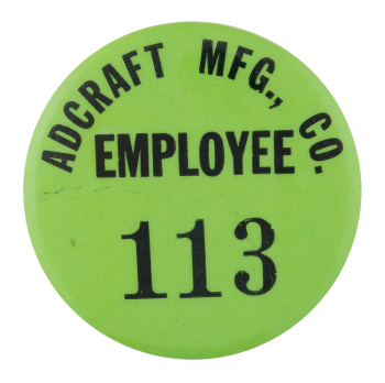 Adcraft Employee Club Button Museum