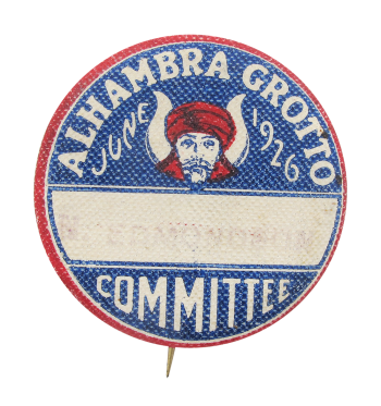 Alhambra Grotto Masonic Organization Club Button Museum